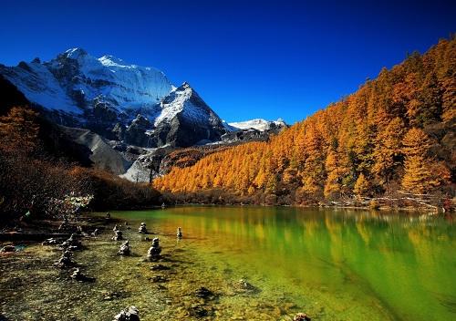 稻城秋天的风景照片