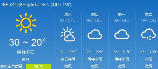 重庆一周天气预报 气温降低 最低降至23