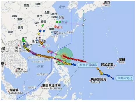 鹤山沙坪台风全景